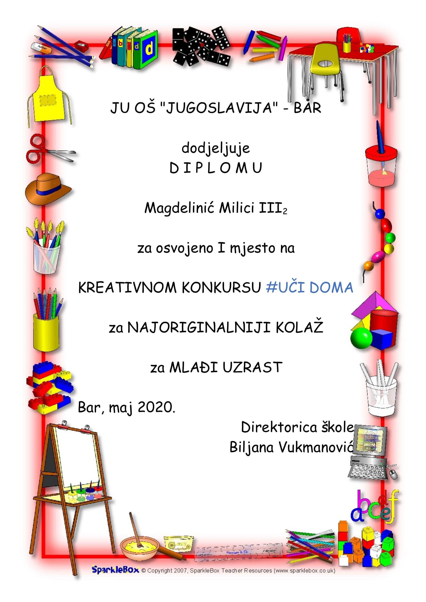 Diploma-KM-I-mjesto